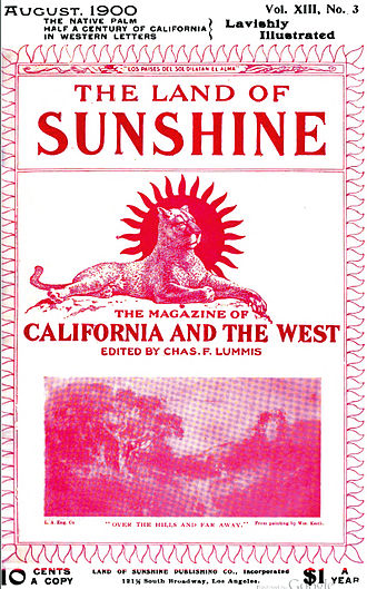 The Land of Sunshine - The cover of the August 1900 issue of The Land of Sunshine
