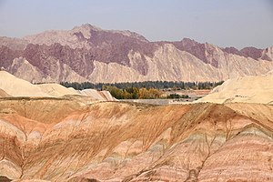 Zhangye National Geopark - Image: Landscape in Zhangye National Geopark