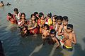 Large Family Bathe in Ganges - Chhath Puja Ceremony - Baja Kadamtala Ghat - Kolkata 2013-11-09 4305.JPG