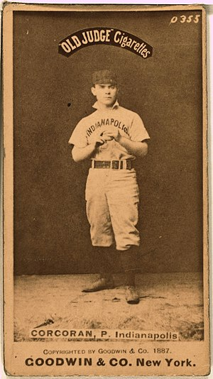Nashville Blues - Image: Larry Corcoran baseball card