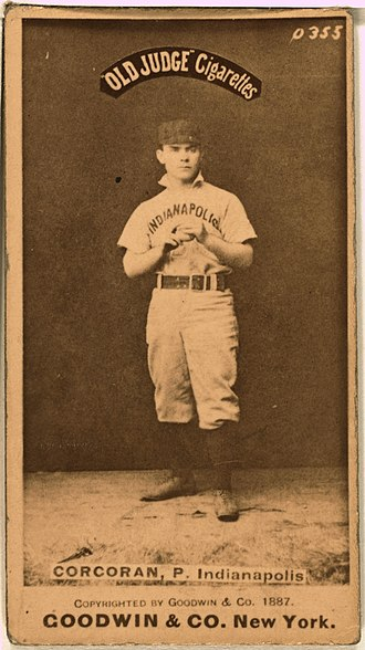 Nashville Blues - Image: Larry Corcoran baseball card