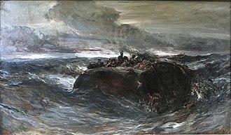 Eugène Isabey - Image: Le naufrage de l'Emily Eugène Isabey mg 8261