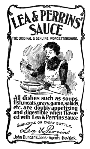 Worcestershire sauce - 1900 advertisement