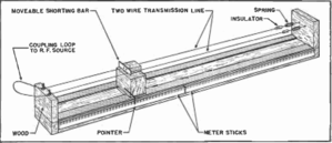 "Lecher lines - Lecher line wavemeter, from ""DIY"" article in 1946 radio magazine"