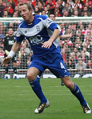 Lee Bowyer - Playing for Birmingham City in October 2010
