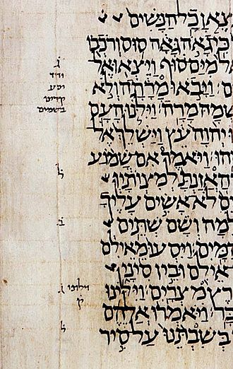 Tradition - Textual traditions of bound manuscripts of the Sefer Torah (Torah scroll) are passed down providing additional vowel points, pronunciation marks and stress accents in the authentic Masoretic Text of the Jewish Bible, often the basis for translations of the Christian Old Testament