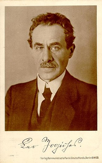 Leo Jogiches - Leo Jogiches as he appeared in 1910.