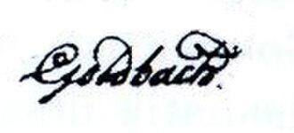 Christian Goldbach - Image: Letter Goldbach Euler signature