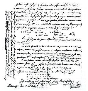 Goldbach's conjecture - Image: Letter Goldbach Euler