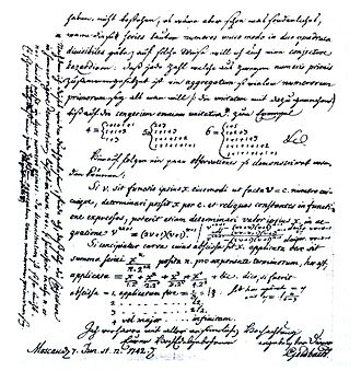 Goldbach's conjecture - Letter from Goldbach to Euler dated on 7. June 1742 (Latin-German).