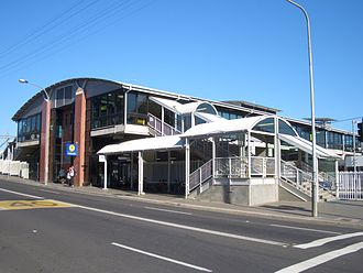 Lidcombe railway station - Station front in August 2007