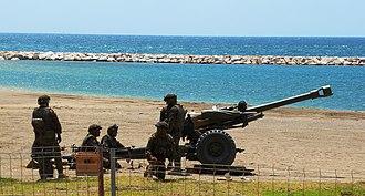 Spanish Legion - 105mm L118 light gun of the Legion Artillery Group