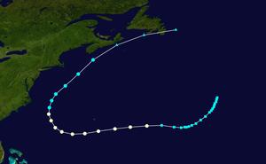 Hurricane Lili (1990) - Image: Lili 1990 track