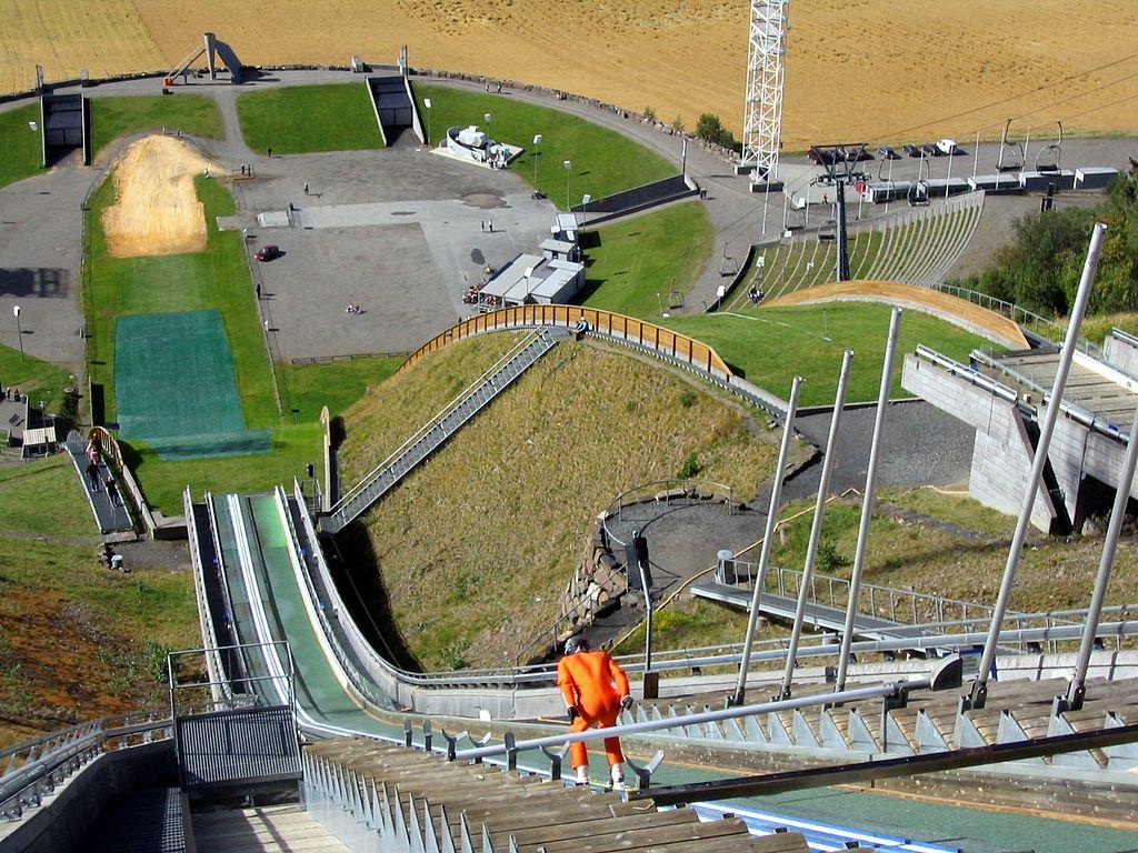 Plataforma de saltos de Lillehamer (Noruega), donde se celebraron los Juegos Olímpicos de Invierno en 1994.