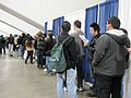 Line for Kick-Ass screening tickets at WonderCon 2010.JPG