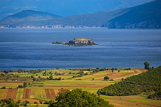 Lake Prespa - The Island of Maligrad in the Albanian part of the Lake