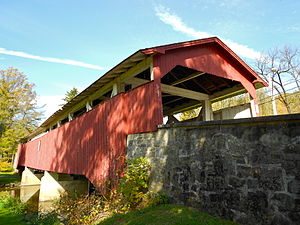 Bogert Covered Bridge - Image: Little Lehigh Bogart Covered Bridge PA