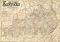 Lloyd's official map of the state of Kentucky compiled from actual surveys and official documents, showing every rail road & rail road station with the distances between each station. Also the LOC 98688486.jpg