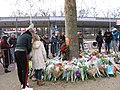 Local residents bring flowers to commemorate the victims of the tram attack on March 18, 2019 at the 24 Oktoberplein, Utrecht.jpg