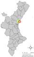 Localització de Canet d'En Berenguer respecte del País Valencià.png