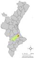 Localització de Llutxent respecte del País Valencià.png