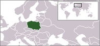 A map showing the location of Poland