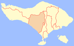 Location of Tabanan