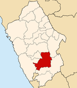 Location of the province Recuay in Ancash.PNG