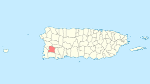 Location of San Germán in Puerto Rico