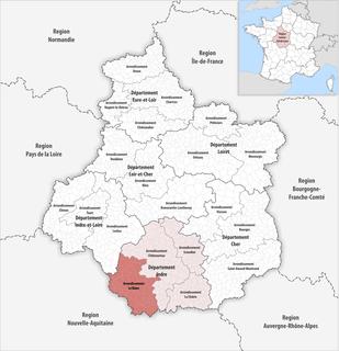 Arrondissement of Le Blanc Arrondissement in Centre-Val de Loire, France