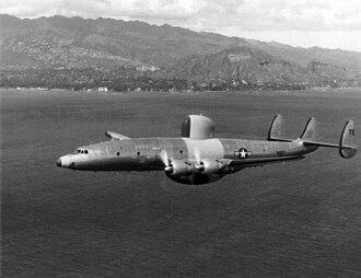 Lockheed EC-121 Warning Star - The third production WV-2 in flight in 1954.