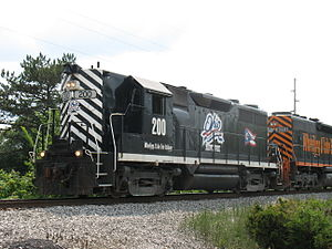 Wheeling and Lake Erie Railway (1990) - Image: Locomotive WE 200 (July 8. 2006, outside Monroeville, Ohio)
