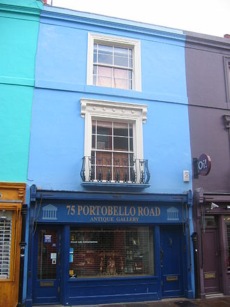 Portobello Road - An antique dealer on Portobello Road