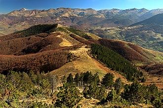 Geography of Kosovo - Image: Long ridge of Pashallore