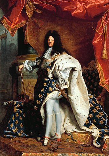 Louis XIV King of France and of Navarre By Hyacinthe Rigaud (1701) Louis XIV of France.jpg