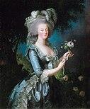 Marie Antoinette with a Rose by Élisabeth Vigée Le Brun