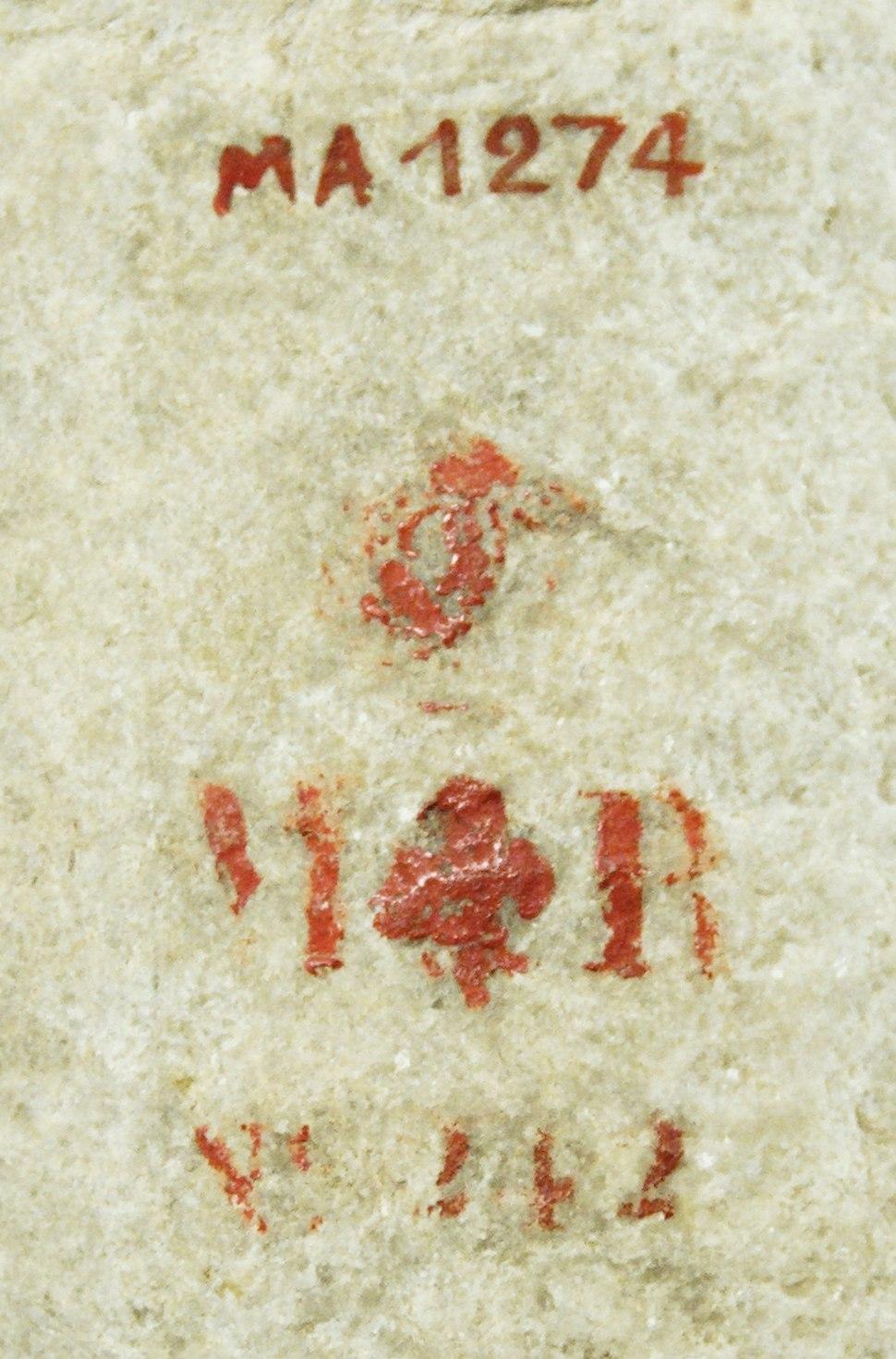 Louvre identifiers Ma1274-MR242
