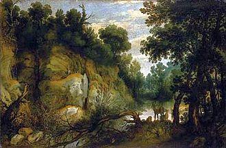 Lucas Achtschellinck - Riverscene with animals