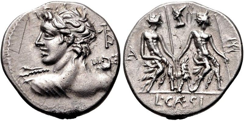 Lucius Caesius, denarius, 112 BC, RRC 298-1