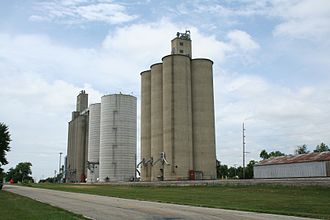 Ludlow, Illinois - Ludlow, Illinois grain elevators.