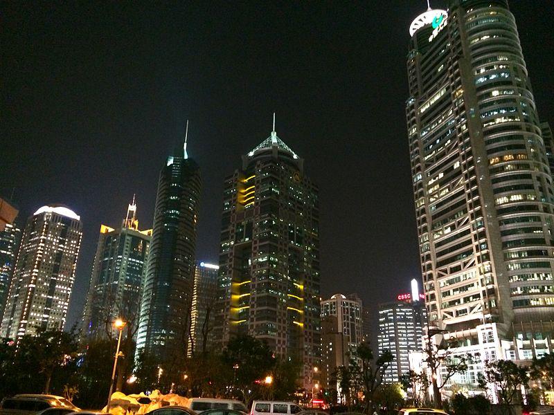 Lujiazui at night, Shanghai.JPG