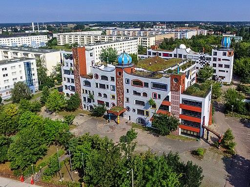 Luther-Melanchthon-Gymnasium Wittenberg aus der Luft