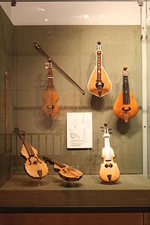 Greek three-stringed bowed musical instrument