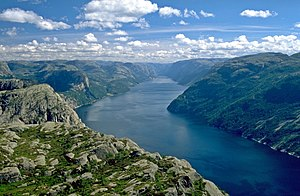 Lysefjord - View of the fjord