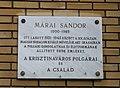 Márai Sándor emléktáblája I kerület Mikó utca és Logodi utca sarok.JPG