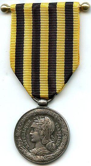 Dahomey Expedition commemorative medal 1892 - Image: Médaille commémorative du Dahomey de la campagne de 1892