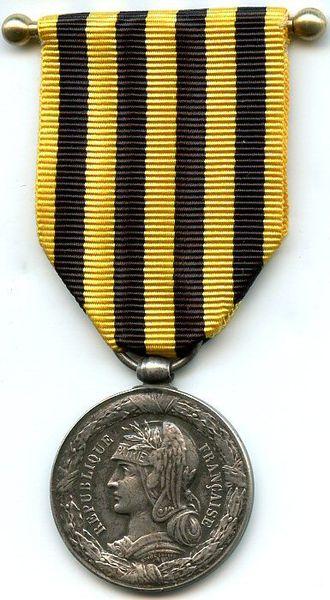 Dahomey Expedition commemorative medal 1892 - Dahomey Expedition commemorative medal (obverse)