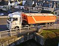 M. Way & Son artic tipper, Port of Teignmouth, 14 November 2012.jpg