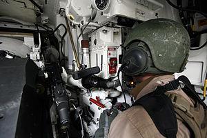 M240 machine gun - M240 coaxial machine gun aboard an M1 Abrams tank.