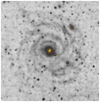 Malin 1 - Processed image of Malin 1 by Giuseppe Donatiello showing its weak spiral arms